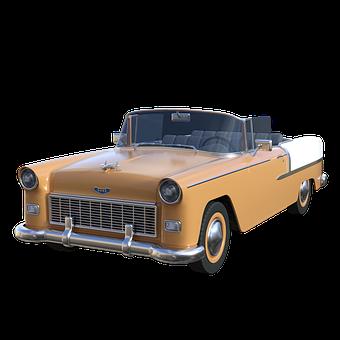 Car, Vintage, Classic, Retro, 1950s, Auto