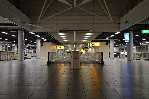 Schiphol, Airport, Gate, Amdsterdam, Departure