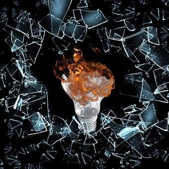 Flame, Fire, Lamp, Shine, Debris, Orange Light, Bulb