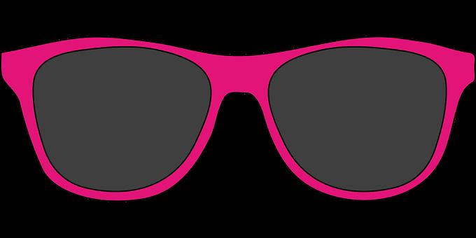 Sun Glasses, Sun Protection, Gray, Pink