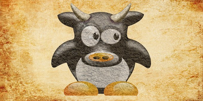 Cow, Animal, Vintage Cow, Cow Milk, Cattle, Oxen, Bull