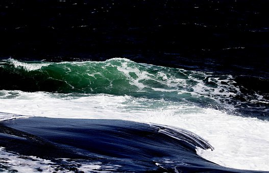 The West Coast, Bohusmalmön, Waves, Sweden, Nature