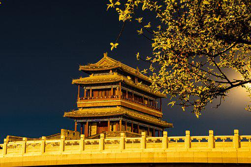 City Gate Tower, Night, Classical