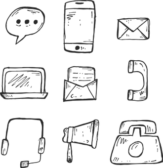Icon, Phone, Hand Drawn, Communication, Sign, Web