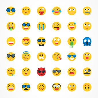 Emojis, Emoji, Hipster, Funny, Emoticon, Facial