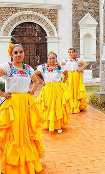 Mexico, Dancers, Folk Dance, Mexican Girl, Culture