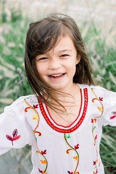 Girl, Playground, Korean, Child, Play, Happy, Children