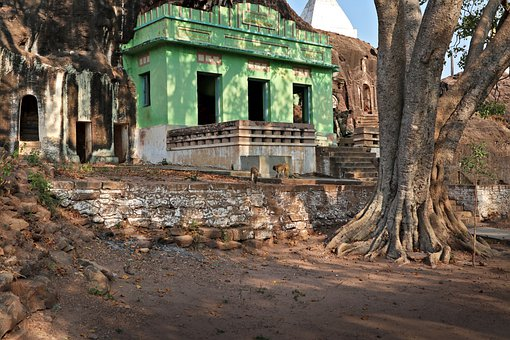 Site Of Pho Win Taung, Abandoned, Monywa, Burma, Temple
