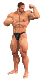 Man, Muscles, Fitness Studio, Sixpack, Muscular