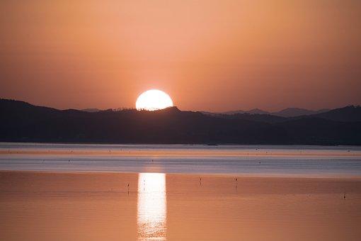 Sea, Solar, Morning, Dawn, Sunrise