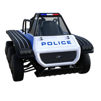 Police, Suv, Patrol, Vehicle, Transport, Offroad, 3d