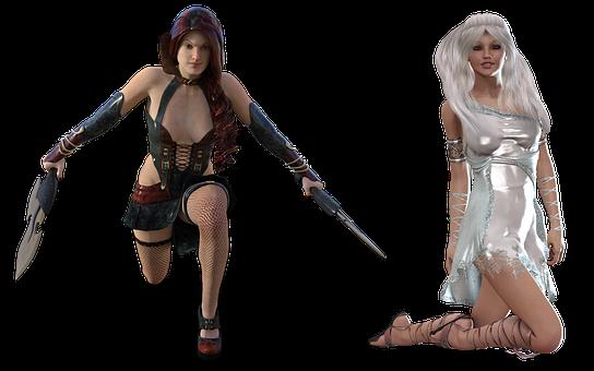 Woman, Warrior, Fighter, Fantasy, Female