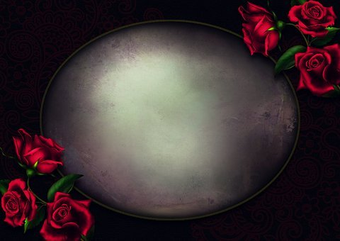 Background Image, Roses, Gothic, Shield