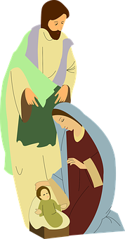 Nativity, Scene, Mary, Joseph, Bethlehem