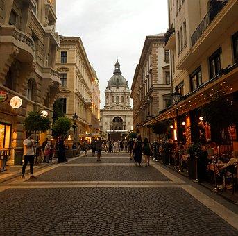 Budapest, Hungary, City, Night, Peoples