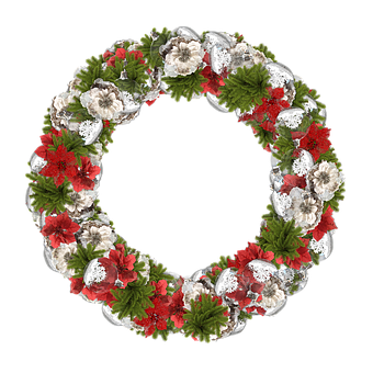 Crown, Christmas, Flowers, Decoration