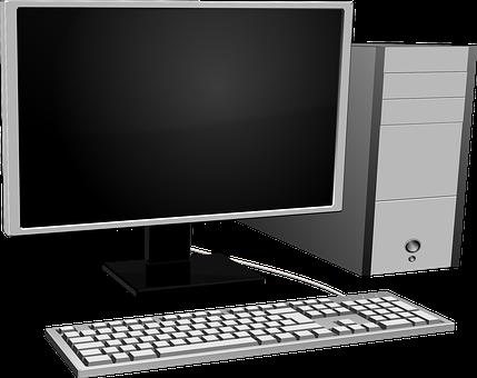 Computer, Crystal Display, Gray, Hardware, Keyboard