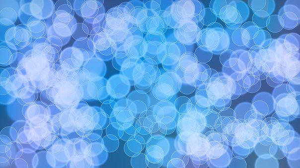 Bokeh, Blue, Effect, Background, Light
