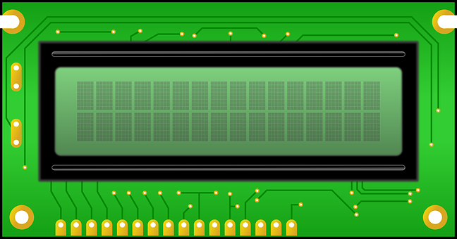 Lcd, Display, Panel, Liquid, Crystal, Electronics, Pcb