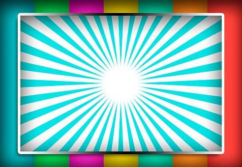 White Board, Ad Display, Rainbow Colors, Board