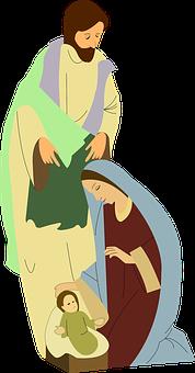 Nativity, Scene, Mary, Joseph, Bethlehem, Christ
