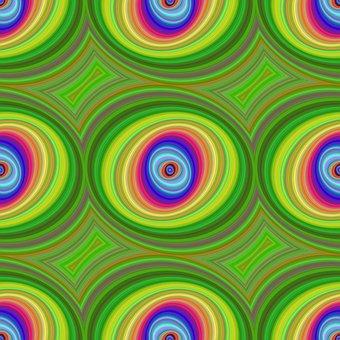 Seamless, Colorful, Background, Round, Ellipse, Shape