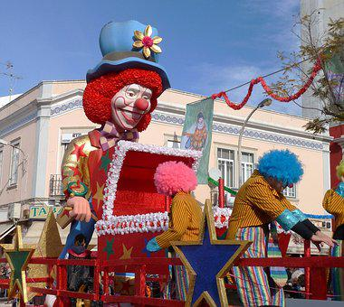 Carnival, Clown, Parade, Algarve, Loulé, Merry