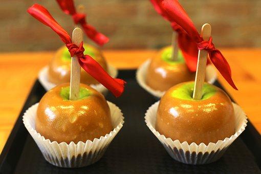 Caramel, Apple, Candy, Store, Food, Dessert, Sweet