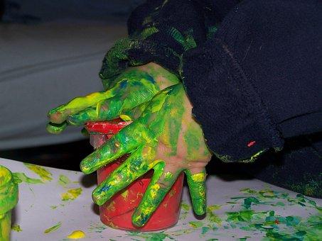 Painting, Hands, Child, Artwork, Creative Art