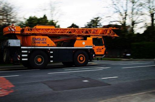 Mobile, Crane, Auto, Construction, Job, Business