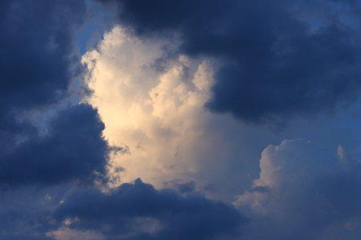 Clouds, Sky, Clouds Form, White, Blue, Gewitterstimmung