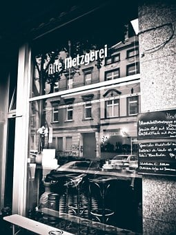 Business, Old, Nostalgia, Cafe, Black White, Streetlife