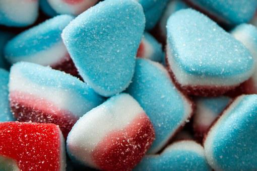 Sweet, Heart, Sugar, Candy, Gums, Color, Forms, Colors