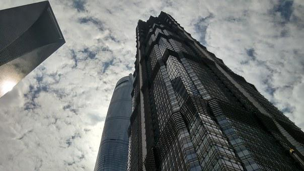 Shanghai, China, City, Modern, Architecture, Building