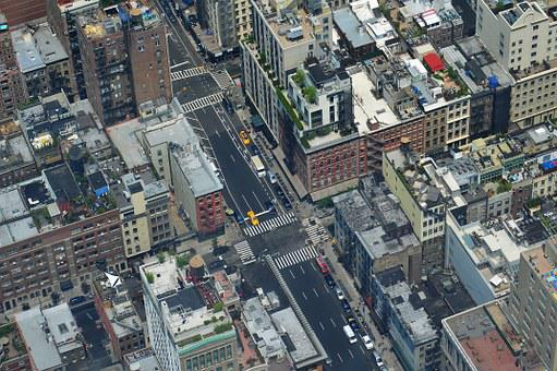 Cityscape, Nyc, Road, Buildings, Architecture
