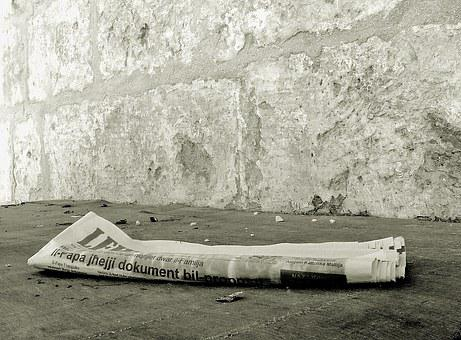 Newspaper, Yesterdays News, Discarded, Daily Paper
