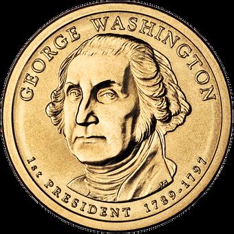Dollar, Coin, George Washington, Face, Politician