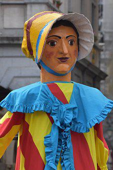Giant, Pop, Folklore, Tradition, Carnival, Woman
