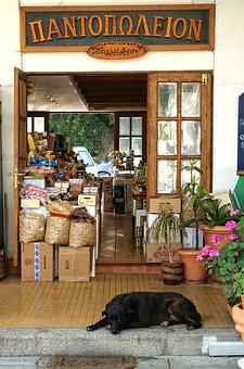 Greece, Rhodes, Business, Dog, Music