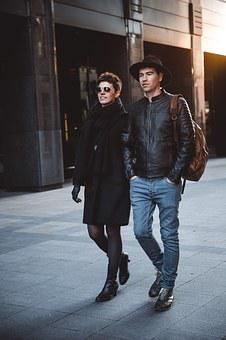 Kiss, Couple, Stroll, Mood, Love, Business, Moscow, Guy