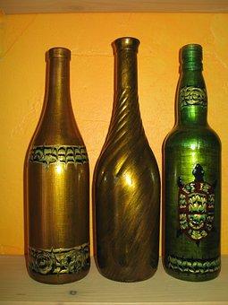 Small Business, Bottle, Painting, Paint, Handmade, Art