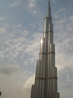 Burj Khalifa, Dubai, Uae, Skyscraper, Hotel, Skyline