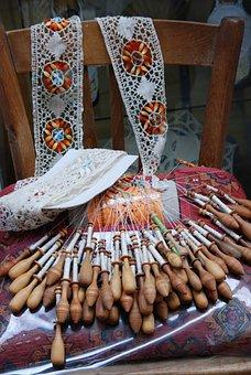 Side, Lacemaking, Ribbon, Decoration, Manual Labor