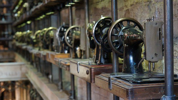 Portobello, Notting Hill, London, Sewing Machine