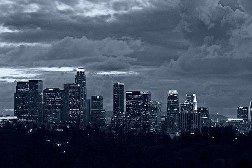 Black And White, City, Los Angeles, La, California