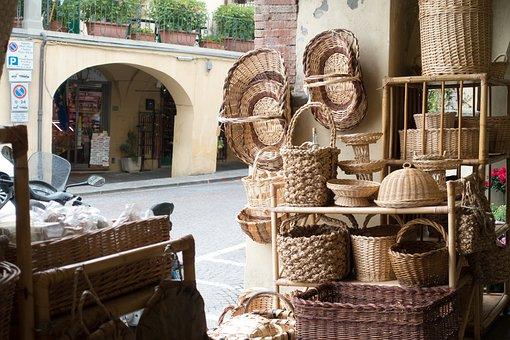 Basket, Presentation Of Goods, Business, Market, Trade