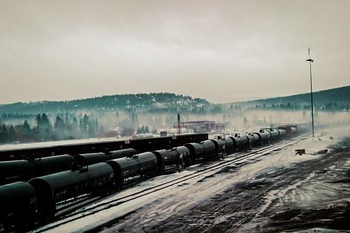 Freight, Trains, Industrial, Metal, Cold, Railroad