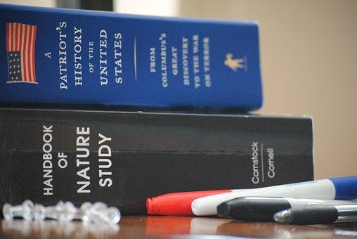 Books, Markers, Pen, Education, Color, Paper, School