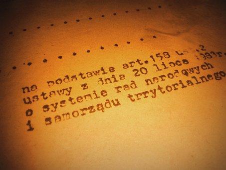 Old Document, Typescript, Paper