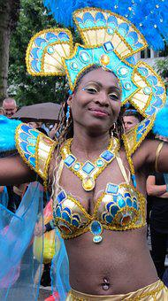 Happy, Party, Parade, Beautiful Woman, Carnival